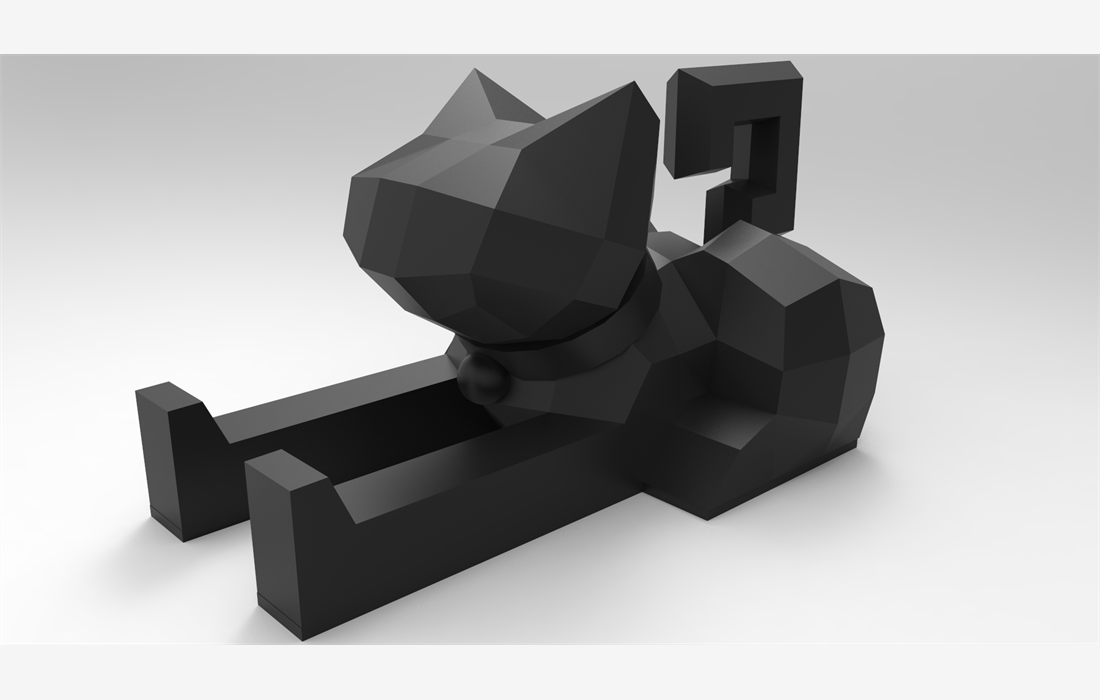 catcat-low-poly-mobile-support